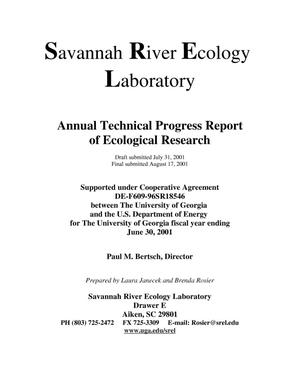 Primary view of object titled 'Savannah River Ecology Laboratory Annual Technical Progress Report of Ecological Research, June 30, 2001'.