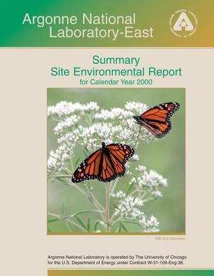 Primary view of object titled 'Argonne National Laboratory-East summary site environmental report for calendar year 2000.'.