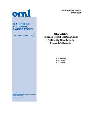 Primary view of object titled 'OECD/NEA Burnup Credit Calculational Criticality Benchmark Phase I-B Results'.