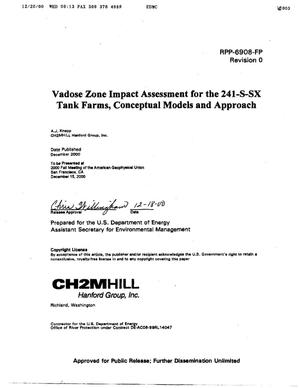 Primary view of object titled 'Vadose Zone Impact Assessment for the 241-S-SX Tank Farms Conceptual Models and Approach'.
