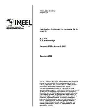 Primary view of object titled 'Near-Surface Engineered Environmental Barrier Integrity'.