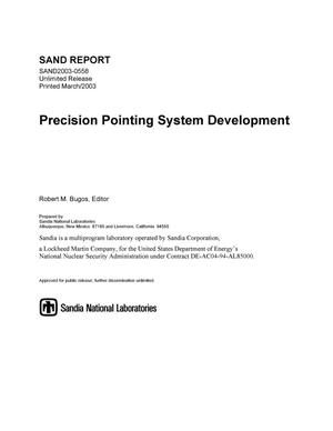 Primary view of object titled 'Precision Pointing System Development'.