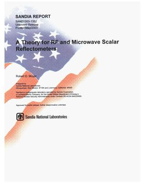 Primary view of object titled 'A Theory for RF and Microwave Scalar Reflectometers'.