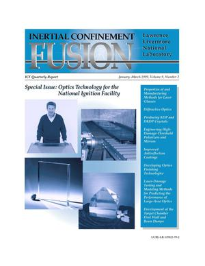 Primary view of object titled 'Inertial Confinement Fusion Quarterly Report January-March 1999, Volume 9, Number 2'.