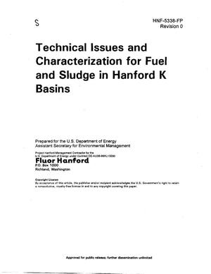 Primary view of object titled 'Technical Issues and Characterization for Fuel and Sludge in Hanford K Basins'.