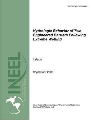 Primary view of object titled 'Hydrologic Behavior of Two Engineered Barriers Following Extreme Wetting'.