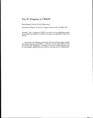 Primary view of object titled 'The N* Program at CEBAF'.