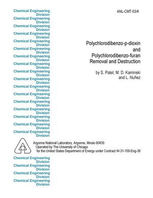 Primary view of object titled 'Polychlorodibenzo-p-dioxin and polychlorodibenzo-furan removal and destruction.'.