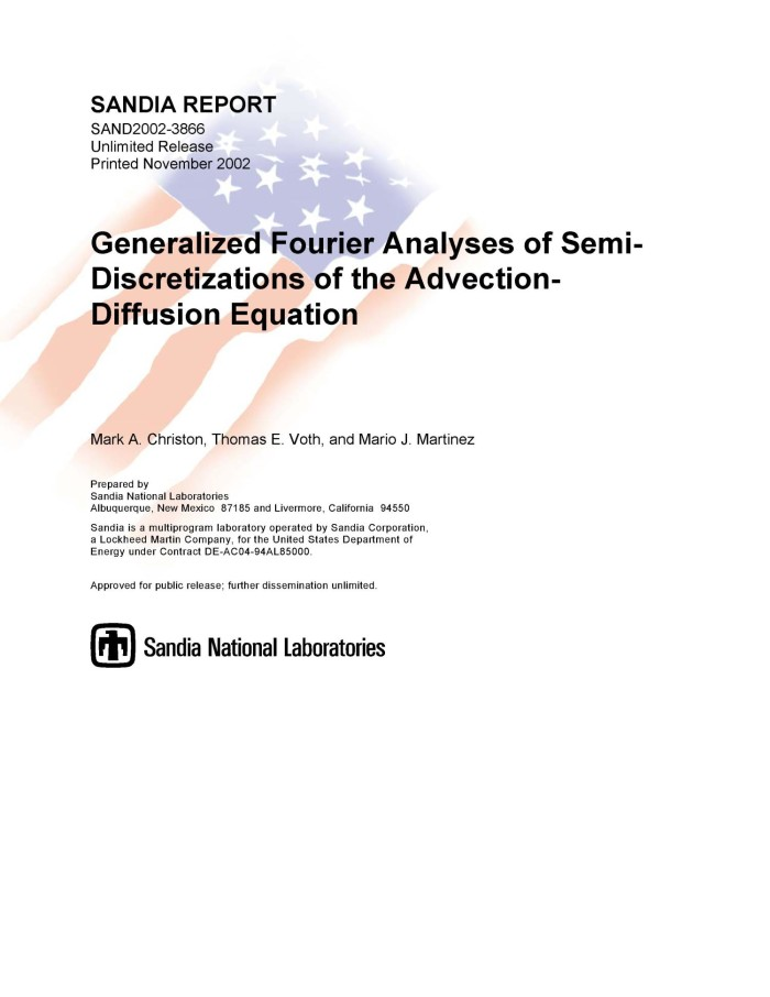 Generalized Fourier Analyses of Semi-Discretizations of the