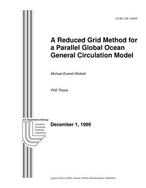 Primary view of object titled 'A Reduced Grid Method for a Parallel Global Ocean General Circulation Model'.