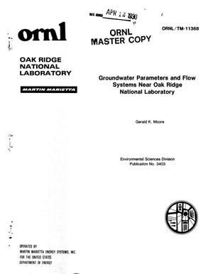 Primary view of object titled 'Groundwater Parameters and Flow Systems Near Oak Ridge National Laboratory'.