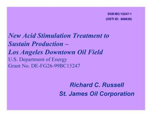 Primary view of object titled 'New Acid Stimulation Treatment to Sustain Production - Los Angeles Downtown Oil Field'.