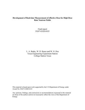 Primary view of object titled 'Development of Real-Time Measurement of Effective Dose for High Dose Rate Neutron Fields'.