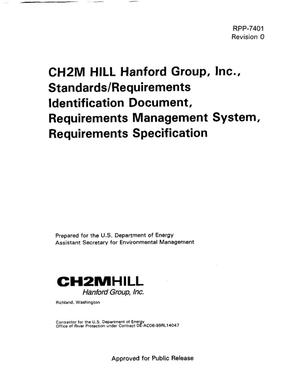 Primary view of object titled 'CH2M Hill Hanford Group, Inc. Standards and Requirements Identification Document (SRID) Requirements Management System and Requirements Specification'.