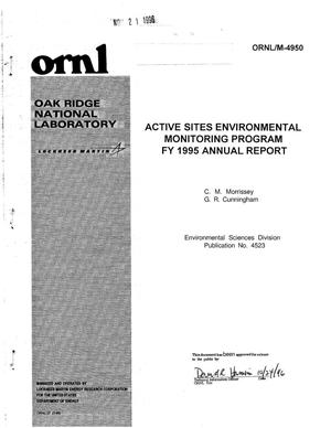 Primary view of object titled 'Active Sites Environmental Monitoring Program FY 1995 Annual Report'.