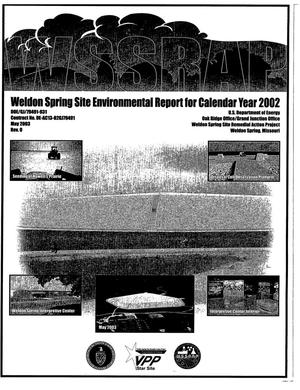 Primary view of object titled 'WELDON SPRING SITE ENVIRONMENTAL REPORT FOR CALENDAR YEAR 2002'.