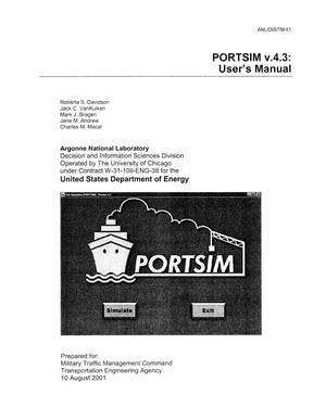 Primary view of object titled 'PORTSIM v.4.3 : user's manual.'.