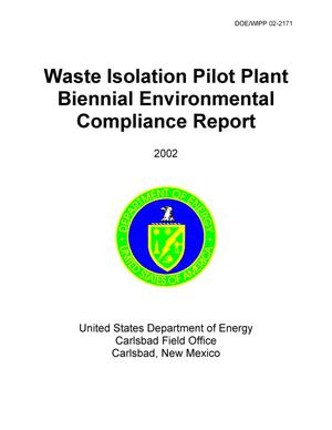 Primary view of object titled 'Waste Isolation Pilot Plant Biennial Environmental Compliance Report'.
