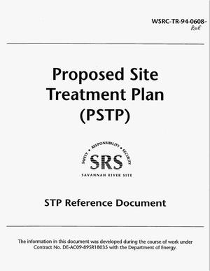 Primary view of object titled 'Proposed Site Treatment Plan (PSTP). STP reference document'.