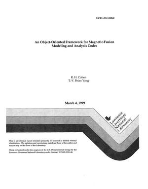Primary view of object titled 'An object-oriented framework for magnetic-fusion modeling and analysis codes'.