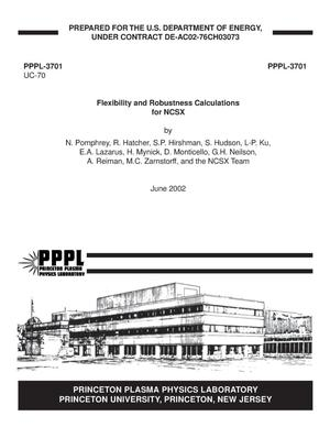 Primary view of object titled 'Flexibility and Robustness Calculations for NCSX'.