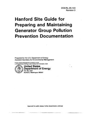 Primary view of object titled 'Hanford Site Guide for Preparing and Maintaining Generator Group Pollution Prevention Program Documentation'.