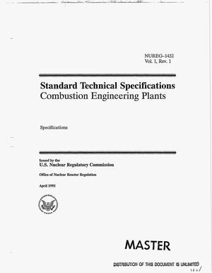 Primary view of object titled 'Standard technical specifications: Combustion engineering plants. Volume 1, Revision 1: Specifications'.