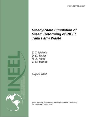 Primary view of object titled 'Steady-State Simulation of Steam Reforming of INEEL Tank Farm Waste'.