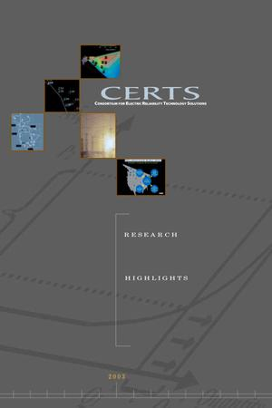 Primary view of object titled 'CERTS: Consortium for Electric Reliability Technology Solutions - Research Highlights'.