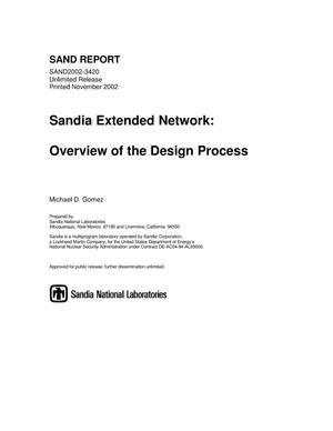 Primary view of object titled 'Sandia Extended Network: Overview of the Design Process'.