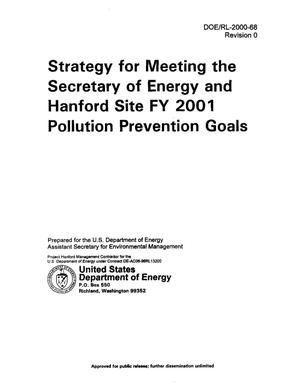Primary view of object titled 'Strategy for Meeting the Secretary of Energy and Hanford Site FY 2001 Pollution Prevention Goals'.