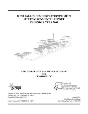 Primary view of object titled 'West Valley Demonstration Project Site Environmental Report Calendary Year 2001'.