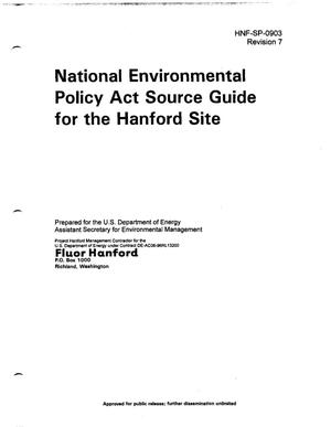 Primary view of object titled 'National Environmental Policy Act (NEPA) Source Guide for the Hanford Site'.