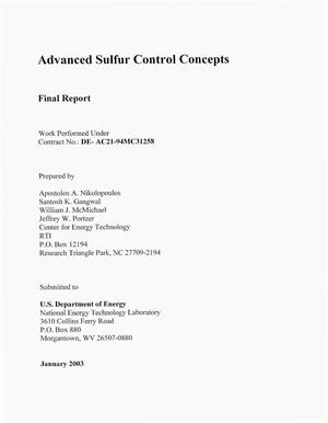 Primary view of object titled 'ADVANCED SULFUR CONTROL CONCEPTS'.