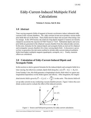 Primary view of object titled 'Eddy-current-induced multipole field calculations.'.