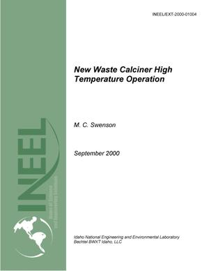 Primary view of object titled 'New Waste Calciner High Temperature Operation'.