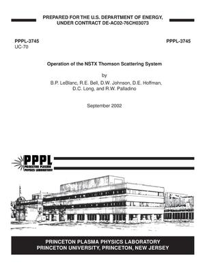 Primary view of object titled 'Operation of the NSTX Thomson Scattering System'.