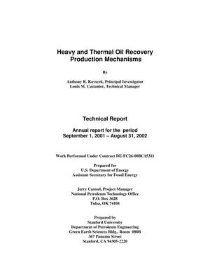 Primary view of object titled 'HEAVY AND THERMAL OIL RECOVERY PRODUCTION MECHANISMS'.