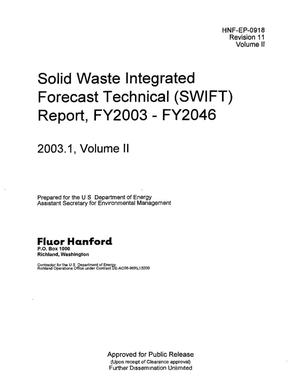 Primary view of object titled 'SOLID WASTE INTEGRATED FORECAST TECHNICAL (SWIFT) REPORT FY2003 THRU FY2046 VERSION 2003.1 VOLUME 2 [SEC 1 & 2]'.