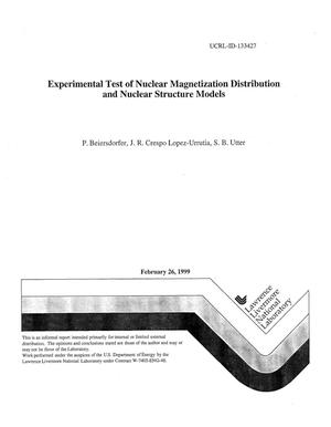 Primary view of object titled 'Experimental test of nuclear magnetization distribution and nuclear structure models'.