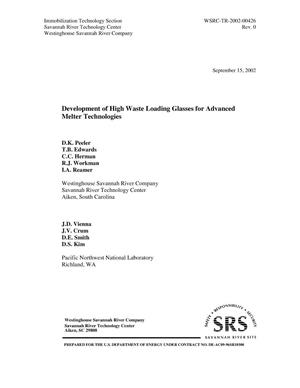 Primary view of Development of High Waste Loading Glasses for Advanced Melter Technologies