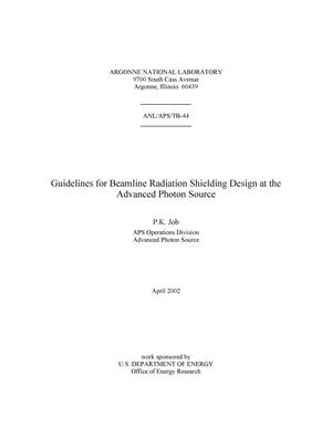 Primary view of object titled 'Guidelines for beamline radiation shielding design at the Advanced Photon Source.'.