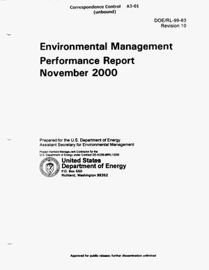 Primary view of Environmental Management Performance Report November 2000