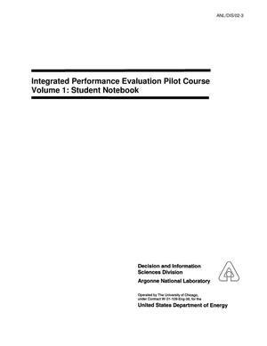 Primary view of object titled 'Integrated performance evaluation pilot course Volume 1 : student notebook and Volume 2 : instructor notebook.'.