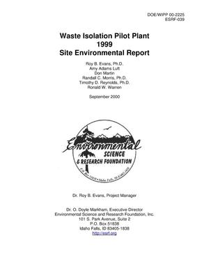 Primary view of object titled 'Waste Isolation Pilot Plant 1999 Site Environmental Report'.