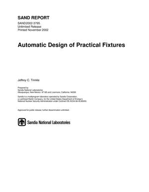 Primary view of object titled 'Automatic Design of Practical Fixtures'.