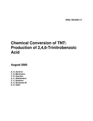 Primary view of object titled 'Chemical Conversion of TNT: Production of 2,4,6-Trinitrobenzoic Acid'.