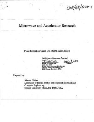 Primary view of object titled 'Microwave and accelerator research. Final report on Grant DE-FG02-92ER40731'.