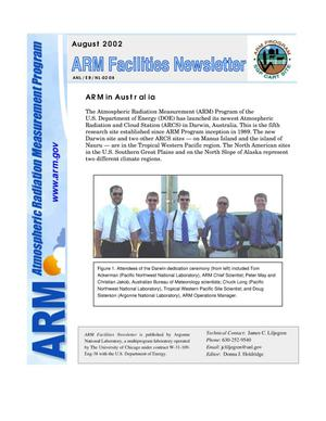 Primary view of object titled 'Atmospheric radiation measurement program facilities newsletter, August 2002.'.