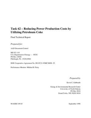 Primary view of object titled 'REDUCING POWER PRODUCTION COSTS BY UTILIZING PETROLEUM COKE'.